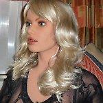 Dream Doll Creation Kopf Chléa mit blonden Haaren und blauen Augen